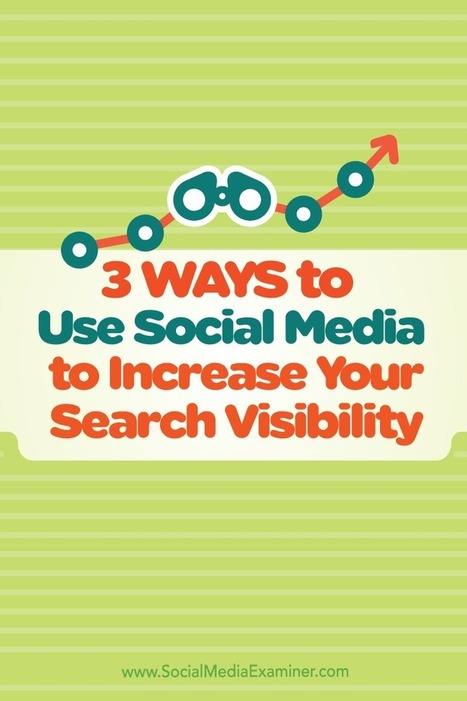 3 Ways to Use Social Media to Increase Your Search Visibility : Social Media Examiner | Integrated Brand Communications | Scoop.it