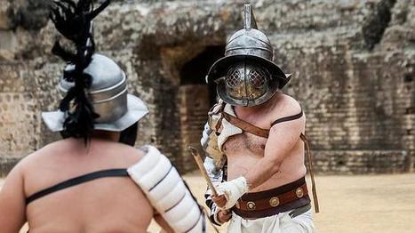 Los gladiadores de Itálica llevarán cascos de latón y reproducirán fielmente su técnica | Mundo Clásico | Scoop.it