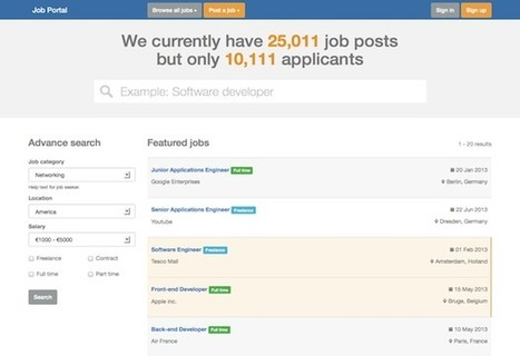 Web Design - Themes & Templates — Twitter Bootstrap 3 - Job Portal is a theme... | sdfgh | Scoop.it