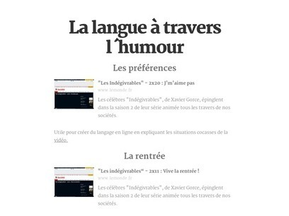 La langue à travers l´humour | fleenligne | Scoop.it