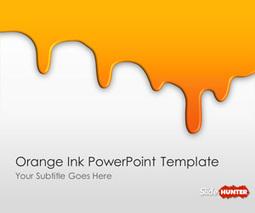 Free Orange Ink PowerPoint Template   civil   Scoop.it