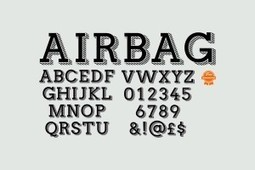 Airbag typeface by simon stratford free download - Itsmesimon | Design | Scoop.it