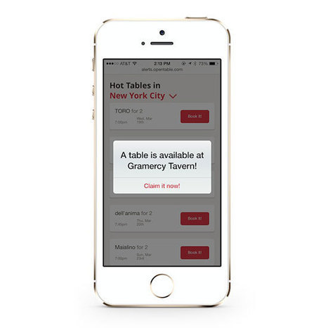 OpenTable Offers New Program for Last-Minute Reservations | Travel (K)Now More | Scoop.it