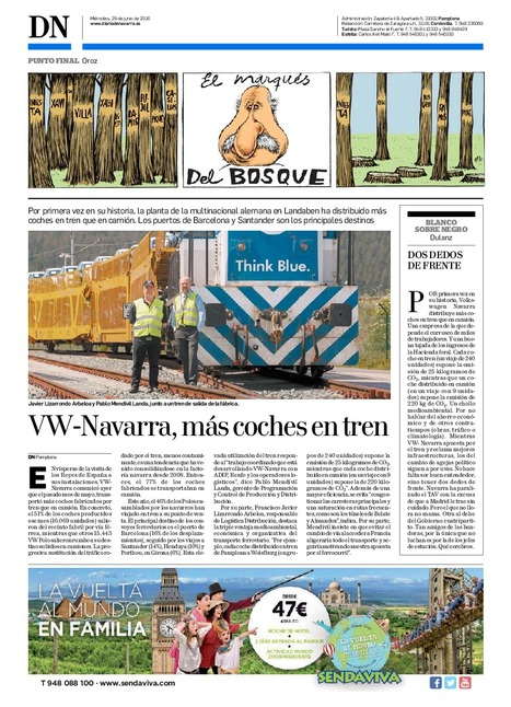 VW-Navarra, más coches en tren | Ordenación del Territorio | Scoop.it