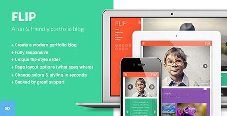 FLIP: A Unique & Colorful WordPress Theme - WordpressThemeDB | Discounts around the world | Scoop.it