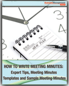 How to Write Meeting Minutes: Expert Tips, Meeting Minutes Templates and Sample Meeting Minutes | Science, Technology, and Current Futurism | Scoop.it