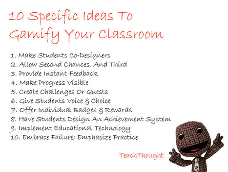 10 Specific Ideas To Gamify Your Classroom - TeachThought | Classroom Activities | Scoop.it
