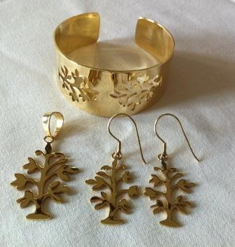 fair trade Cambodia.Recycled Brass Bomb shell Tree of Life Cuff,Earrings & Pendant, ethically handcrafted by disadvantaged home based workers   Recycled Bomb Casings & Bullet Shell Jewellery   Scoop.it