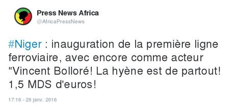 Niger : inauguration de la première ligne ferroviaire | Actualités Afrique | Scoop.it