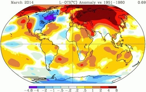 NASA GISS Shows March 2014 Was Third Hottest on Record as Arctic Heatwave Spurs Siberian Fire Season to Early Start | Garry Rogers Nature Conservation News | Scoop.it