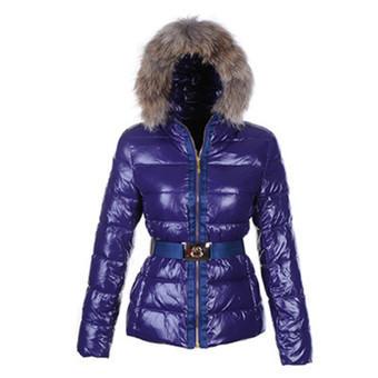 Moncler Angers Jas Fur Hood Quilted Blauw | Moncler Nederland | www.jassenmonclersale.com | Scoop.it