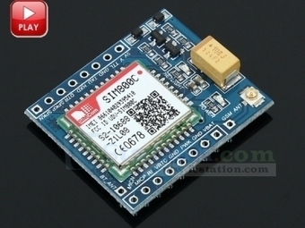 SIM800C GSM GPRS Module for Arduino STM32 C51 with Bluetooth and TTS - GPRS Module - Arduino, 3D Printing, Robotics, Raspberry Pi, Wearable, LED, development boardICStation | Arduino, Raspberry Pi | Scoop.it