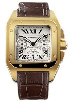 Cartier Santos 100 Chronographe Automatique Or jaune W20096Y1 Replique | Best Swiss Replica Watches From China | Scoop.it