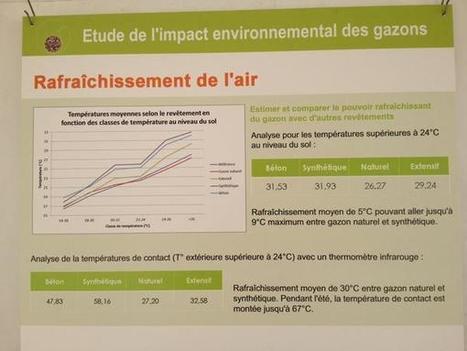 """Julien Greffier sur Twitter : """"Le #gazon naturel a un pouvoir rafraîchissant. Jusqu'à 9'C d'écart avec le gazon synthétique a 26'C ambiant. http://t.co/yfDDm7odOp""""   Tout sur le Gazon Synthetique   Scoop.it"""