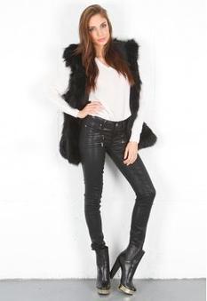 Paige Premium Denim Edgemont Ultra Skinny in Black Silk | SINGER22.com | GonPin.me | My Fasion 101 | Scoop.it