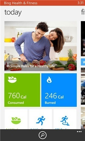 Bing Health & Fitness Beta app available on Windows Phone Store | Medical Apps | Scoop.it