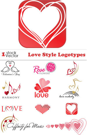 Todovectores: Love Logotypes - Logotipos de Amor (AI-TIFF) Vector ... | Recursos | Scoop.it