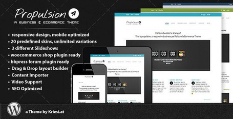 Propulsion - responsive business & eCommerce (Business) | Premium Wordpress Themes | Scoop.it
