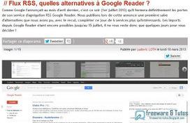 Le site du jour : quelles alternatives à Google Reader ? | netnavig | Scoop.it