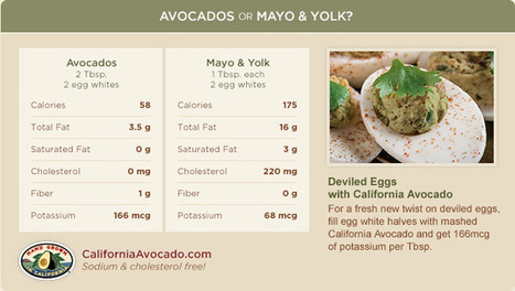 Avocado Fat Substitutions - Avocado-Based Condiment Alternatives | California Avocado Commission | Food for Foodies | Scoop.it