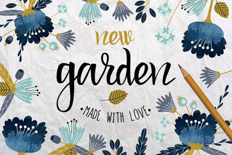 Freebie till Sunday | New Garden. Autumn floral collection | Design Freebies & Deals | Scoop.it