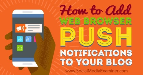 How to Add Web Browser Push Notifications to Your Blog : Social Media Examiner | Internet Marketing in a Nutshell | Scoop.it