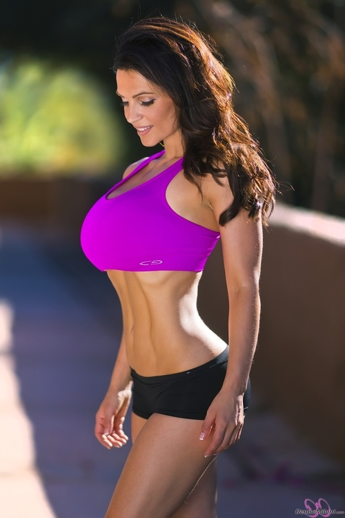 Denise Milani Preview Of Her Set Fitness Pink