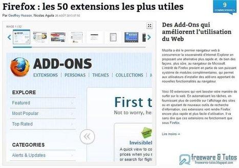 Firefox : les 50 extensions incontournables - Freewares & Tutos | netnavig | Scoop.it