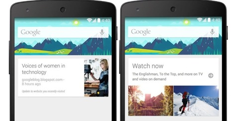 Google Now Updated With News Topics and Movie Recommendations | Cultura de massa no Século XXI (Mass Culture in the XXI Century) | Scoop.it