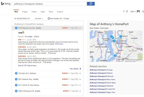 Bing Showcases Yelp Reviews in Search Results | Local Search Marketing SEO & News | Scoop.it