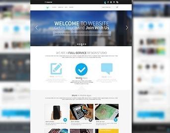 iResources - Creative One Page Portfolio PSD Theme | Premium Website Template | Scoop.it