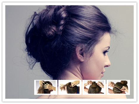 Hairstyle-Spa: Give Your Hair A Fancy Messy Bun   hairstyles   Scoop.it