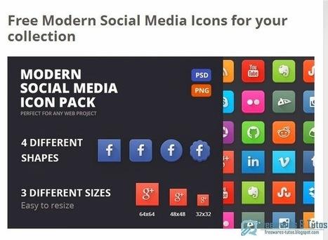 Modern Social Media Icons : un pack d'icônes gratuit pour vos projets personnels ou commerciaux   Freewares   Scoop.it