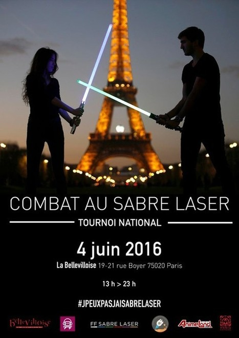 Star Wars : le premier championnat de France de combat au sabre laser aura lieu en juin à Paris | HiddenTavern | Scoop.it