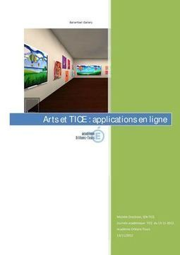 Académie Orléans-Tours - TICE et art. Applications interactives pour créer, dessiner en ligne au primaire | Ressources Ecole | Scoop.it