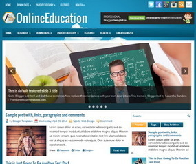 OnlineEducation Blogger Template | Blogger Templates | Scoop.it