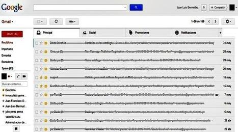 Ya podemos activar las nuevas pestañas en la bandeja de Gmail│@softapps | Recull diari | Scoop.it