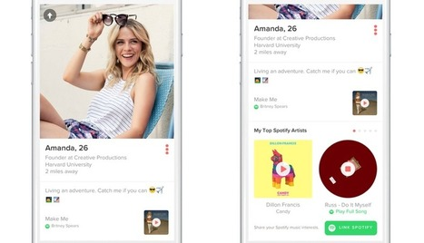 Tinder hooks up with Spotify to match users based on their taste in music | sound branding | Scoop.it