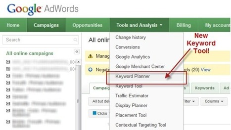 How to Use The Keyword Planner -- The New Keyword Tool From Google AdWords | Communiquer sur le Web | Scoop.it