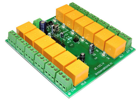 12 ch IR remote control relay card with programmable RC5 code iR-12C-V launched. | Serial LCD | Scoop.it