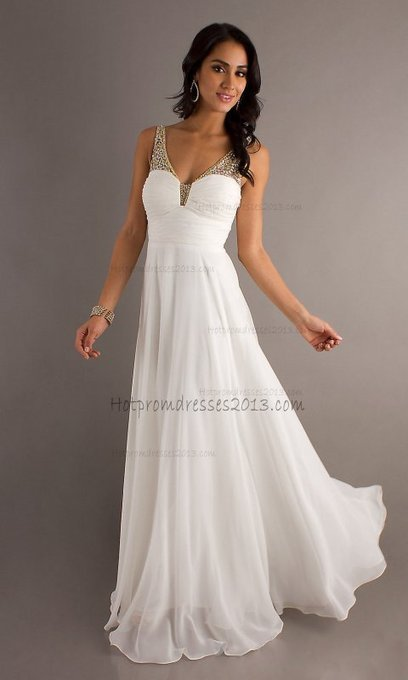 Two Shoulder White Long spaghetti strap Prom Dress 2013 with ruched bodice [Long,Two Shoulder,White,Prom Dress 2013] - $176.00 : Discount Dresses for Prom 2013,Up 50% Off   fashion   Scoop.it
