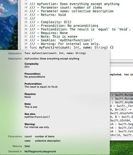 Swift header documentation in Xcode 7 | iOS & macOS development | Scoop.it