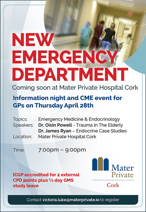 CME event for GPs - Mater Private Cork - ICGP accredited | Irish Medical Times | CME-CPD | Scoop.it