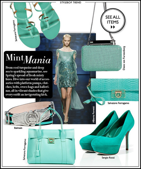 Spring 2013 Fashion Trends - Mint Mania   THE LOS ANGELES FASHION   Best of the Los Angeles Fashion   Scoop.it