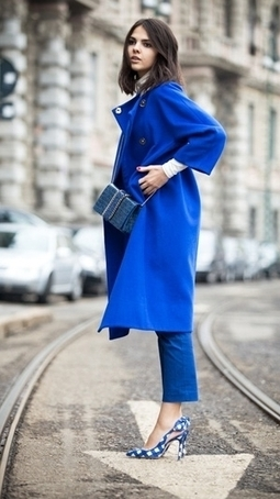 streetstyle - BLUE COATS - Style Indicator | CHICS & FASHION | Scoop.it