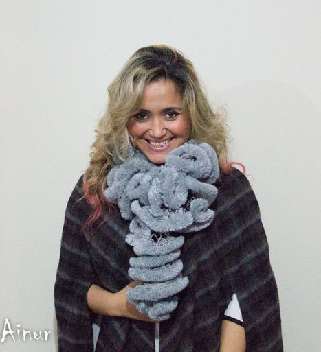CYBER MONDAY SALE-gray Faux Fur  scarf--Fashion trends-Winter Accessories-Frilly scarf-Knit scarf-Huge-Chunky Chain Cozy from Ainur | AinurDesign | Scoop.it