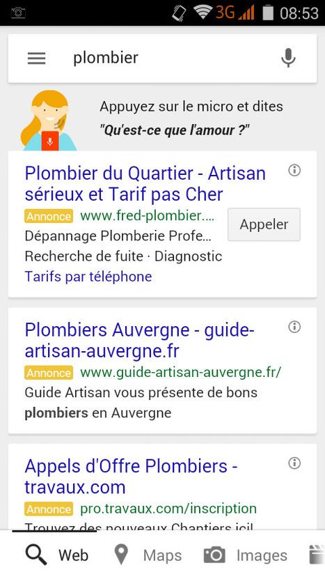 Google Mobile confirme l'affichage de 3 annonces textuelles dans les SERP - #Arobasenet.com   SEO   Scoop.it