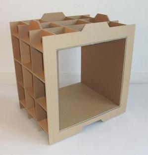 Como hacer muebles de carton packaging para t for Hacer muebles con carton