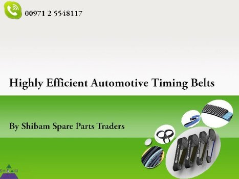 Extremely Efficient Gates Timing Belts | Industrial & Automotive Belts | Scoop.it