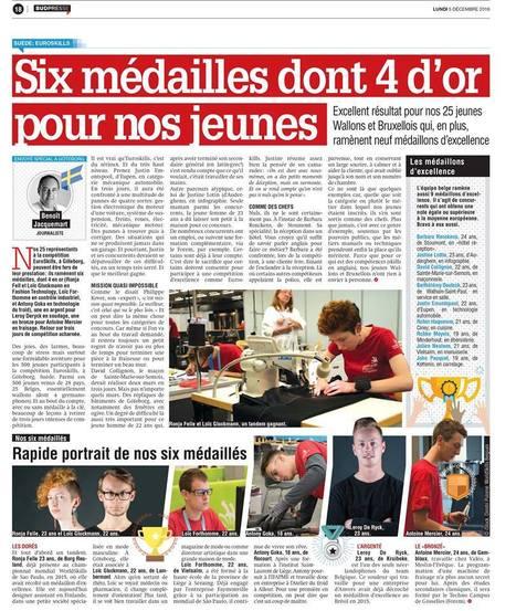 EuroSkills: 6 médailles pour la Belgique - La Meuse | Haute Ecole HELMo | Scoop.it
